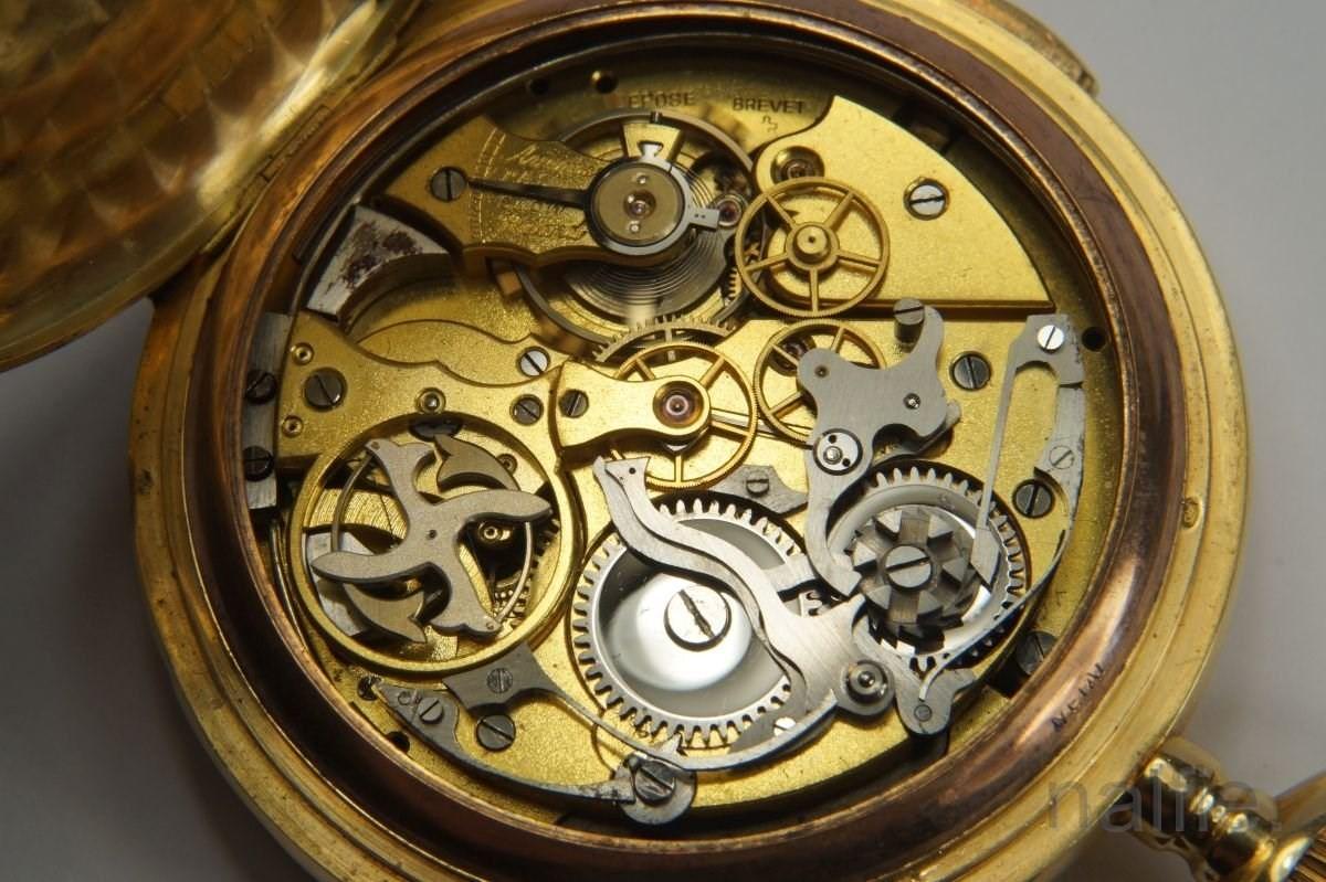 antique 18k gold invicta repeater pocket italy