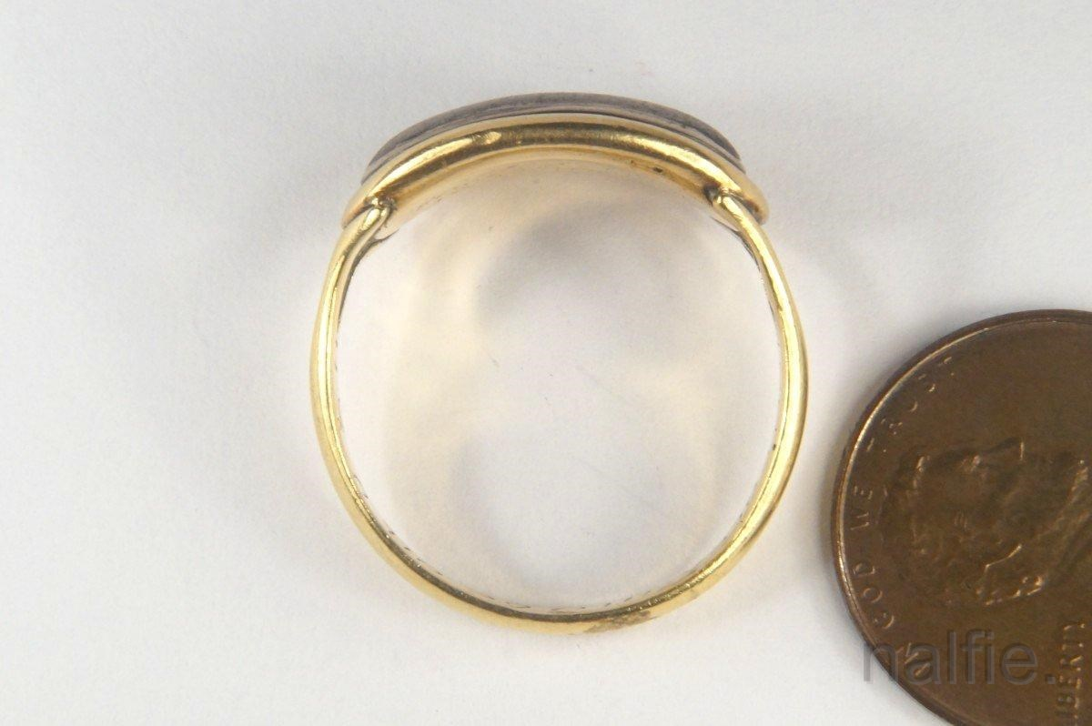 antique 22k gold posy poesy ring w georgian