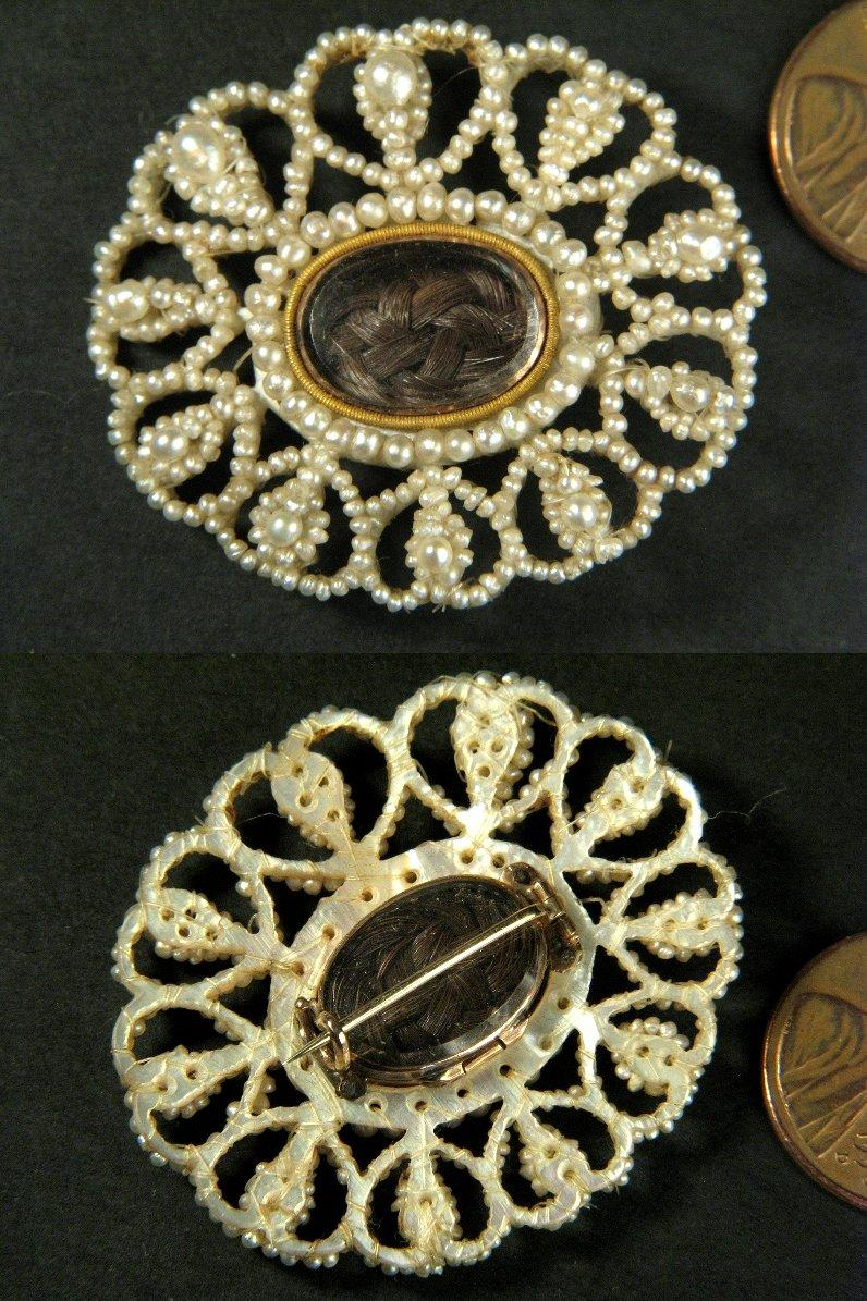 Superb Antique Georgian Seed Pearl Boxed Suite Necklace